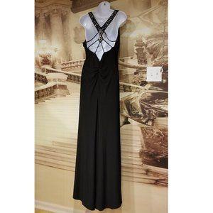 Xscape black maxi stretch lined Dress Sz10- 12 new